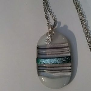 Jewelry - Hand Blown & Painted Glass Pendant